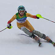 Winter Olympics, Vancouver, 2010. Marie-Michele Gagnon, Canada,  in action in the Alpine Skiing Ladies Slalom at Whistler Creekside, Whistler, during the Vancouver Winter Olympics. 24th February 2010. Photo Tim Clayton