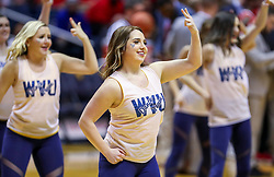 Jan 2, 2019; Morgantown, WV, USA; A West Virginia Mountaineers dancer performs during the first half against the Texas Tech Red Raiders at WVU Coliseum. Mandatory Credit: Ben Queen-USA TODAY Sports