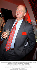 MR SIMON PARKER BOWLES former brother in law of Camilla Parker Bowles, at a party in London on 3rd June 2003.PKB 89