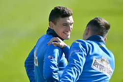 November 13, 2017 - Mogosoaia, Romania - Claudiu Keseru of Romania Football Team during a training session at Mogosoaia, Romania on 13 November 2017. (Credit Image: © Alex Nicodim/NurPhoto via ZUMA Press)