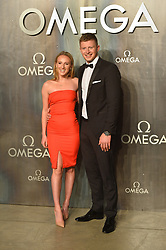 © Licensed to London News Pictures. 26/04/2017. London, UK. ANNA ZAIR and ADAM PEATY attend the Omega party celebrating 60 Years of the Speedmaster watch. Photo credit: Ray Tang/LNP