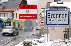"""THEMENBILD - Die ehemalige Grenzstation der Österreichischen Zollwache am Bundesstraßengrenzübergang, Fahrtrichtung Tirol, aufgenommen am Sonntag, 7. Februar 2016, in Gries am Brenner. Tirols Landeshauptmann Günther Platter hat die vorbereitenden Planungsarbeiten der Polizei für eine mögliche Grenzsicherung am Brenner begrüßt. Auch wenn es dort derzeit noch kein erhöhtes Flüchtlingsaufkommen gebe, sei es """"gut"""" dass die Exekutive die Planungen """"für ein Grenzmanagement nach den Erkenntnissen von Spielfeld in Angriff genommen hat"""" // The former border station of the Austrian customs guard at the federal highway border crossing, direction Tyrol, taken on Sunday, February 7, 2016, in Gries am Brenner. Tyrol Governor Günther Platter welcomed the preparatory planning work of the police for a possible border security at the Brennerpass. EXPA Pictures © 2016, PhotoCredit: EXPA/ Johann Groder"""