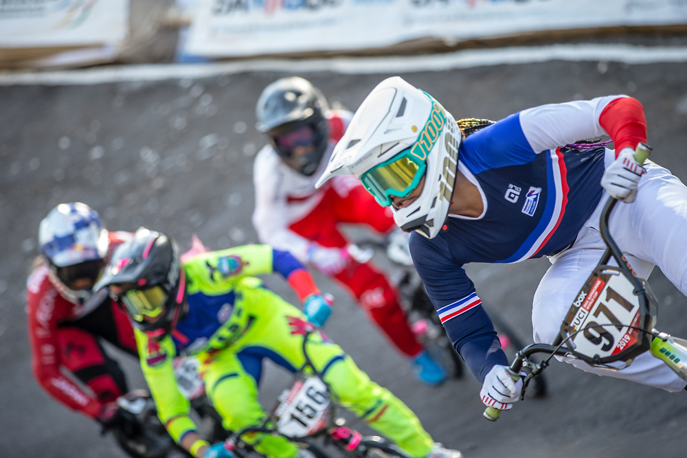 #971 (VALENTINO Manon) FRA  at Round 9 of the 2019 UCI BMX Supercross World Cup in Santiago del Estero, Argentina