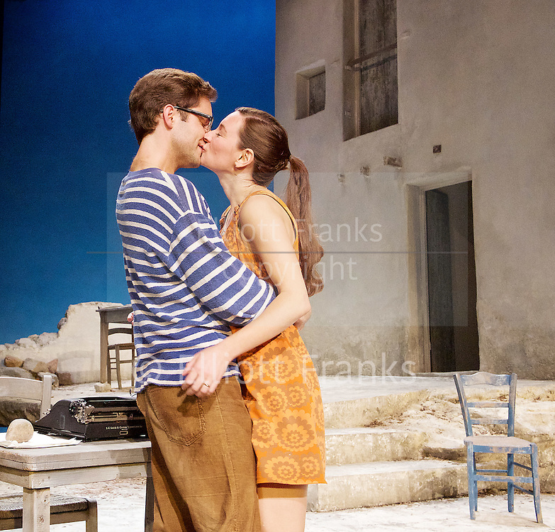 Sunset at the Villa Thalia <br /> by Alexi Kaye Campbell<br /> at Dorfman Theatre, National Theatre, Southbank, London, Great Britain <br /> <br /> 31st May 2016 <br /> press photocall <br />  <br /> <br /> directed by Simon Godwin<br /> <br /> <br /> <br /> Sam Crane as Theo <br /> <br /> <br /> <br /> Pippa Nixon as Charlotte <br /> <br />  <br /> <br /> Photograph by Elliott Franks <br /> Image licensed to Elliott Franks Photography Services