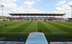 A general view of Northampton Town's Sixfields Stadium - Mandatory by-line: Joe Dent/JMP - 26/08/2017 - FOOTBALL - Sixfields Stadium - Northampton, England - Northampton Town v Peterborough United - Sky Bet League One