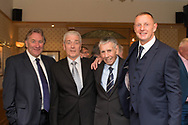A quartet of goalkeepers at the Dundee FC 2017 Hall of Fame dinner at the Invercarse, Left to right: Allan Rough who was a speaker at the event, Thomson Allan (inductee), Pat Liney (Champion keeper and club president) and Rab Douglas (inductee) Dundee, Photo: David Young<br /> <br />  - &copy; David Young - www.davidyoungphoto.co.uk - email: davidyoungphoto@gmail.com