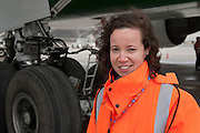 At Roissy, Nesrine, 34, works as a technical inspector  for the DGCA (Directorate General of Civil Aviation) - she is the only female technical controller at the airport of Roissy-en-France. She can stop a Boeing taking off and make the 300 passengers leave the airplane. Nesrine Chkioua is the only woman controller at Roissy Airport and one of three women doing this job in France.<br /> <br /> <br /> À Roissy, Nesrine, 34 ans, exerce le métier de contrôleur technique (CTE) pour la DGAC (Direction générale de l'aviation civile) - elle est la seule femme contrôleur technique à l'aéroport de Roissy-en-France.  Elle peut immobiliser un Boeing, retarder le décollage et même faire débarquer les 300 passagers d'un long-courrier. Nesrine Chkioua est la seule contrôleur femme à Roissy aéroport et est une des trois femmes à exercer ce métier en France.