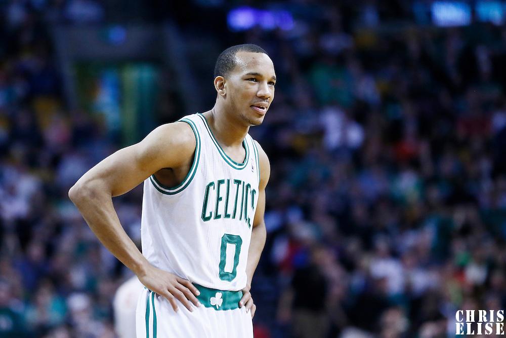 07 April 2013: Boston Celtics point guard Avery Bradley (0) is seen during the Boston Celtics 107-96 victory over the Washington Wizards at the TD Garden, Boston, Massachusetts, USA.