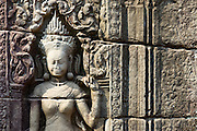 Buddha Carvings on Wall of Banteay Kdei