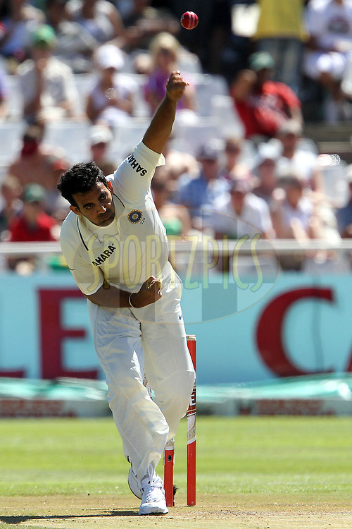 Zaheer Khan of India during day 2 of the 3rd test between South Africa and India held at Sahara Park Newlands Stadium in Cape Town on the 3 January 2011..Photo by Ron Gaunt/BCCI/SPORTZPICS