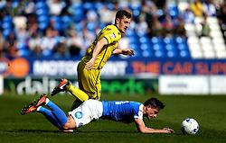 Tom Lockyer of Bristol Rovers fouls Tom Nichols of Peterborough United - Mandatory by-line: Robbie Stephenson/JMP - 22/04/2017 - FOOTBALL - ABAX Stadium - Peterborough, England - Peterborough United v Bristol Rovers - Sky Bet League One