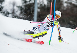 "Christina Geiger (GER) competes during 1st Run of FIS Alpine Ski World Cup 2017/18 Ladies' Slalom race named ""Snow Queen Trophy 2018"", on January 3, 2018 in Course Crveni Spust at Sljeme hill, Zagreb, Croatia. Photo by Vid Ponikvar / Sportida"