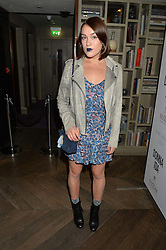 ELLA CATLIFF at a party hosted by Donna Ida to celebrate 'A Decade in Denim' held at The hari Hotel, 20 Chesham Place, London on 11th October 2016.