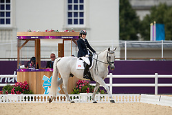 Schloss Jody (CAN) - Inspector Rebus <br /> Team Test - Grade Ia - Dressage <br /> London 2012 Paralympic Games<br /> © Hippo Foto - Jon Stroud