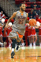 17 December 2014: Marshaun Newell during an NCAA Men's Basketball game between the Skyhawks of University of Tennessee - Martin and the Redbirds of Illinois State at Redbird Arena in Normal Illinois