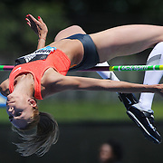 Iryna Kovalenko, Ukraine, in action during the Women's High Jump Competition at the Diamond League Adidas Grand Prix at Icahn Stadium, Randall's Island, Manhattan, New York, USA. 13th June 2015. Photo Tim Clayton