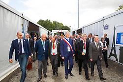 Opening Village Bruneau Joël (FRA) mayor city of Caen, Beauvais Laurent (FRA) président du conseil régional<br /> Alltech FEI World Equestrian Games™ 2014 - Normandy, France.<br /> © Hippo Foto Team - Leanjo de Koster<br /> 25/06/14