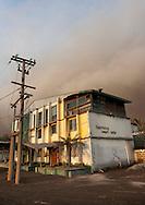 A house located near the volcano, Tavurvur Volcano, Rabaul, New Britain Island, Papua New Guinea.