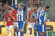 05-02-2017: Voetbal: FC Utrecht v sc Heerenveen: Utrecht<br /> <br /> (L-R) SC Heerenveen speler Morton Thorsby baalt van een gemiste kans tijdens het Eredivisie duel tussen FC Utrecht en SC Heerenveen op 5 februari 2017 in stadion Galgenwaard tijdens speelronde 21<br /> <br /> Eredivisie - Seizoen 2016 / 2017<br /> <br /> Foto: Gertjan Kooij