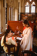 INDIA, EDUCATION University students study in library in Mumbai (Bombay)