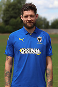 AFC Wimbledon midfielder Anthony Wordsworth (40) during the AFC Wimbledon 2018/19 official photocall at the Kings Sports Ground, New Malden, United Kingdom on 31 July 2018. Picture by Matthew Redman.