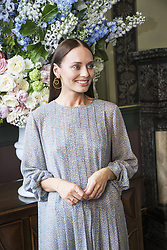 June 18, 2017 - London, United Kingdom - LAURA HADDOCK promotes 'Transformers: The Last Knight.' Laura Jane Haddock (born 21 August 1985) is an English actress. She is best known for portraying Kacie Carter in Honest, Lucrezia in Da Vinci's Demons, Meredith Quill in Guardians of the Galaxy and its sequel Guardians of the Galaxy Vol. 2, and Alison in The Inbetweeners Movie and Transformers: The Last Knight as Viviane Wembly. (Credit Image: © Armando Gallo via ZUMA Studio)