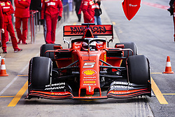 February 18, 2019 - Barcelona, Barcelona, Spain - Sebastian Vettel from Germany with 05 Scuderia Ferrari Mission Winnow SF90 in action during the Formula 1 2019 Pre-Season Tests at Circuit de Barcelona - Catalunya in Montmelo, Spain on February 18, 2019. (Credit Image: © Xavier Bonilla/NurPhoto via ZUMA Press)