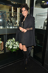 NANCY DELL'OLIO at the opening of the new Gismondi Jewellery boutique, 14 Albermarle Street, London on 9th October 2014.