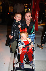Actress CAMILLA RUTHERFORD and her children HECTOR ABBOTT and MAUD ABBOTT at a party to celebrate the launch of DKNY Kids and Halloween in aid of CLIC Sargent and RX Art held at DKNY, 27 Old Bond Street, London on 31st October 2006.<br /><br />NON EXCLUSIVE - WORLD RIGHTS