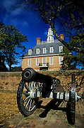 Image of the Governor's Palace on Duke of Gloucester Street in Colonial Williamsburg, Virginia, east coast