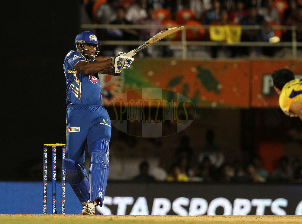 during the eliminator match of the Pepsi Indian Premier League Season 2014 between the Chennai Superkings and the Mumbai Indians held at the Brabourne Stadium, Mumbai, India on the 28th May  2014<br /> <br /> Photo by Vipin Pawar / IPL / SPORTZPICS<br /> <br /> <br /> <br /> Image use subject to terms and conditions which can be found here:  http://sportzpics.photoshelter.com/gallery/Pepsi-IPL-Image-terms-and-conditions/G00004VW1IVJ.gB0/C0000TScjhBM6ikg