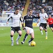 Dundee's Nick Ross and St Johnstone&rsquo;s Michael O'Halloran  - Dundee v St Johnstone at Dens Park <br /> - Ladbrokes Premiership<br /> <br />  - &copy; David Young - www.davidyoungphoto.co.uk - email: davidyoungphoto@gmail.com