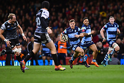 27th April 2019 , Principality Stadium , Cardiff, Wales ; Guinness pro 14's, Round 21, Cardiff Blues Vs Ospreys ; Jarrod Evans of Cardiff Blues in action during todays match<br /> <br /> Credit :  Craig Thomas/Replay Images