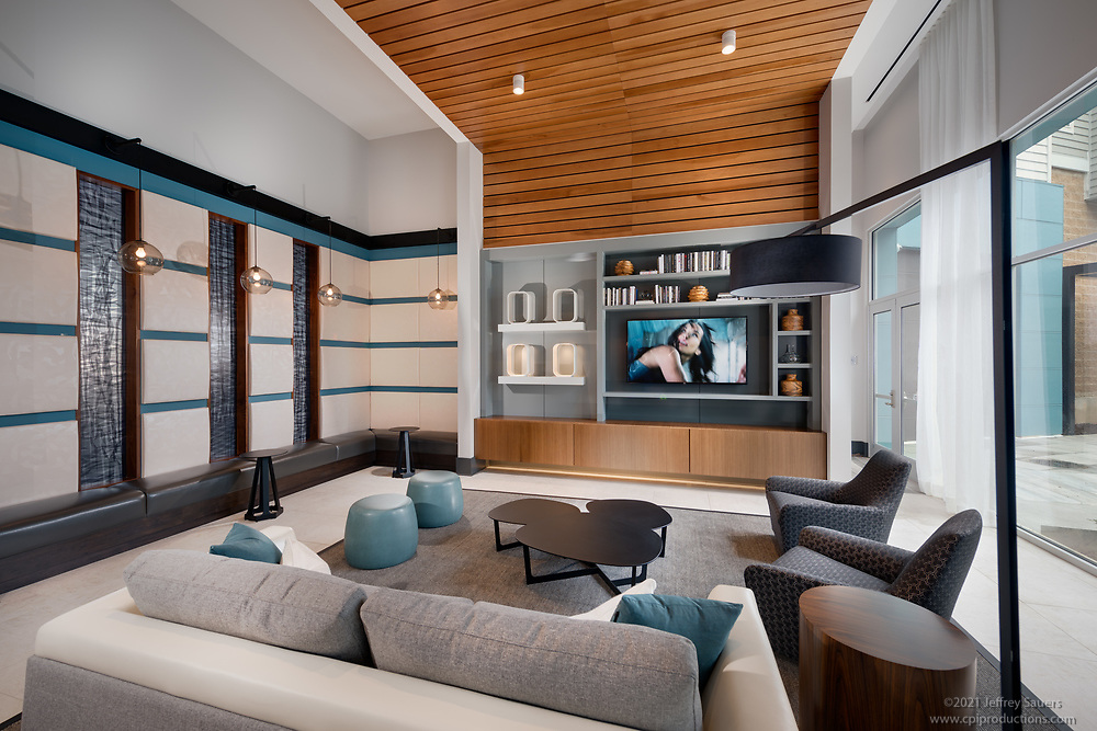 Interior image of  the Daley Apartments at Shady Grove Metro in Rockville MD by Jeffrey Sauers of Commercial Photographics, Architectural Photo Artistry in Washington DC, Virginia to Florida and PA to New England