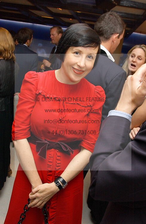 ALICE RAWSTHORN at a dinner hosted by Cartier to celebrate the opening of the 2004 Frieze Art Fair, held at Yauacha 15-17 Broadwick Street, London W1 on 13th October 2004.<br />