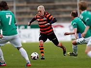 FODBOLD: Mads Aaquist (FC Helsingør) under kampen i NordicBet Ligaen mellem AB og FC Helsingør den 11. maj 2017 på Helsingør Stadion. Foto: Claus Birch