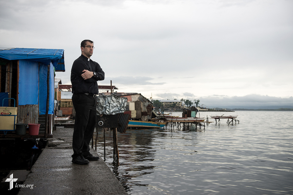 The Rev. Ross Johnson, director of LCMS Disaster Response, surveys the coastline in Tacloban, Leyte Province, Philippines, on Friday, March 14, 2014. LCMS Communications/Erik M. Lunsford