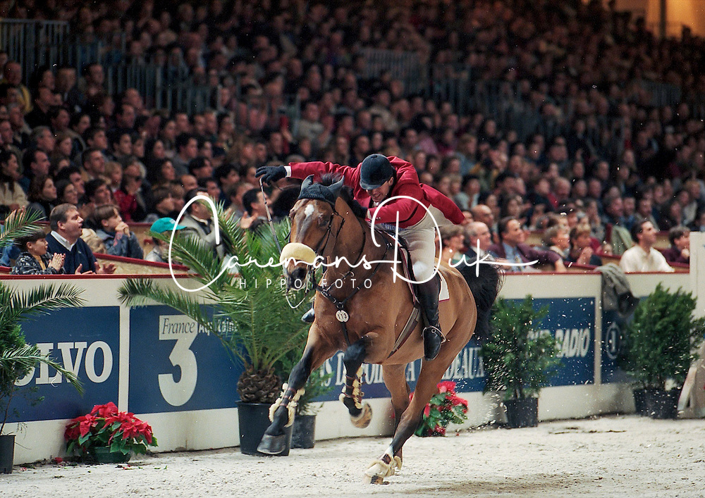 Van der Schans Wout Jan, NED, Leroy Brown<br /> CSI-W Bordeaux 1996<br /> © Dirk Caremans<br /> 06/01/17