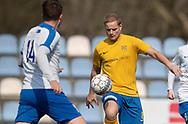 FODBOLD: Stefan Fjeldsted Jensen (Ølstykke FC) under kampen i Serie 2 mellem Ølstykke FC og Humlebæk Boldklub den 6. april 2019 på Ølstykke Stadion. Foto: Claus Birch.