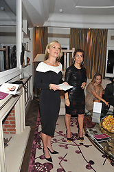 Left to right, MARIELLA FROSTRUP and KAREN RUIMY at The Great Initiative event in association with jewellers Boodles held at The Corinthia Hotel, London on 6th November 2012.