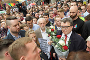 Vigil for the people murdered in the Pulse Club shooting in Orlando Florida by Omar Mateen<br /> in Old Compton Street, London, Great Britain <br /> 13th June 2016 <br /> <br /> <br /> <br /> Jeremy Corbyn <br /> Leader of the labour Party <br /> <br /> <br /> Photograph by Elliott Franks <br /> Image licensed to Elliott Franks Photography Services