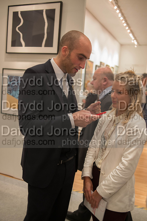 DAVINA HARBORD; DRUMMOND MONEY-COUTTS, 20/21 British Art Fair. Celebrating its 25 Anniversary. The Royal College of Art . Kensington Gore. London. 12 September 2012.