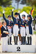 Podium Young Riders<br /> European Championships Dressage 2016<br /> © DigiShots
