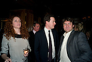 REBEKAH WADE; GEORGE OSBORNE; CHARLIE BROOKS, Book launch for Citizen by Charlie Brooks. Tramp. London. 1 April  2009