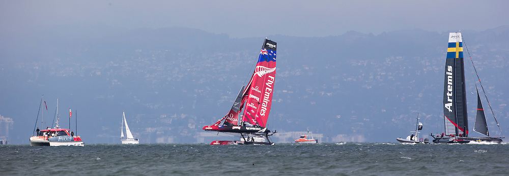 Practice day, August 21st 2012, AC45 World Series San Francisco.
