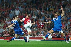 LONDON, ENGLAND - WEDNESDAY, SEPTEMBER 28, 2011: Arsenal's Andrei Arshavin in action against Olympiacos during the UEFA Champions League Group F match at the Emirates Stadium. (Photo by Chris Brunskill/Propaganda)