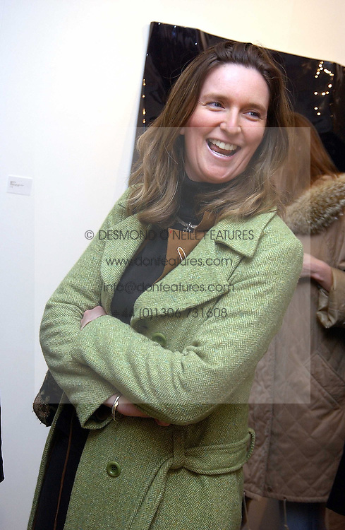CHARLOTTE CUNNINGHAM (PRINCESS CHARLOTTE OF LUXEMBURG) at an exhibition of work by Daniel Chadwick held at Beaux Art, Cork Street, London on 1st February 2005.<br /><br />NON EXCLUSIVE - WORLD RIGHTS