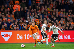24-03-2019 NED: UEFA Euro 2020 qualification Netherlands - Germany, Amsterdam<br /> Netherlands lost the match 3-2 in the last minute / Frenky de Jong #21 of The Netherlands, Leroy Sane #19 of Germany