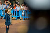 Madame Florence Parly, ministre des armees, presidait le bapteme de la promotion 2017 de l'Ecole de Sante des armees le samedi 06 octobre 2018. Elle etait aux cotes du medecin general inspecteur H. Foehrenbach et du medecin general inspecteur Maryline Gygax Genero, premiere femme a la tete du service de sante des armees.