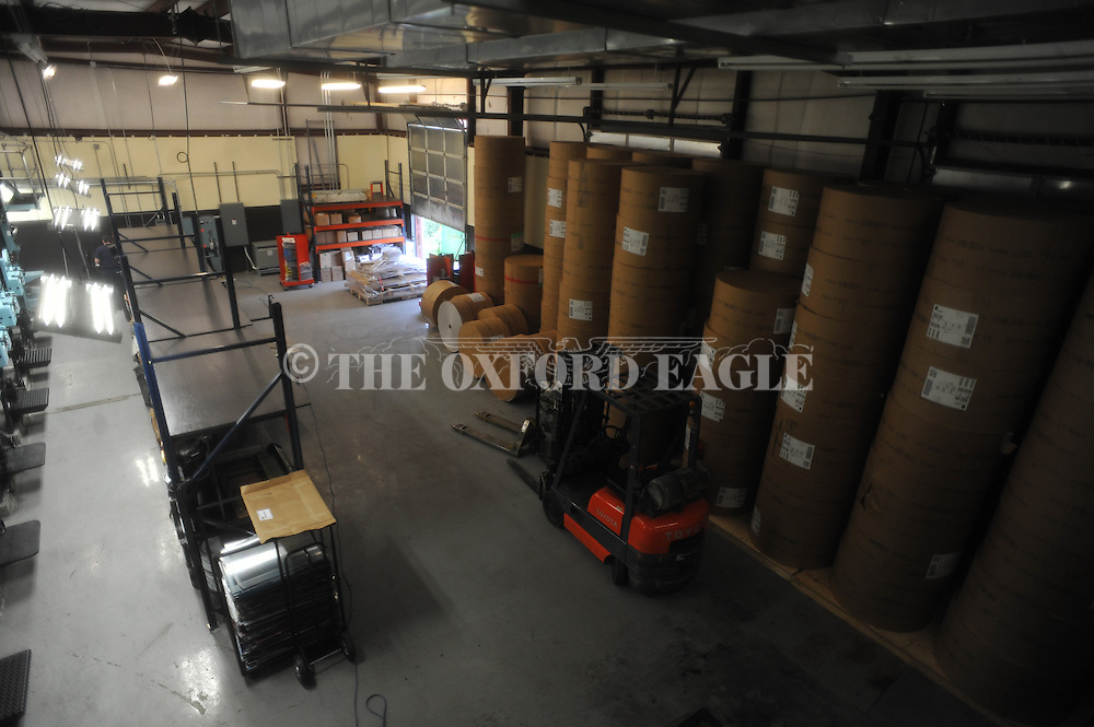 Oxford Eagle press at its location on Highway 30, in Oxford, Miss. on Monday, May 9, 2016.